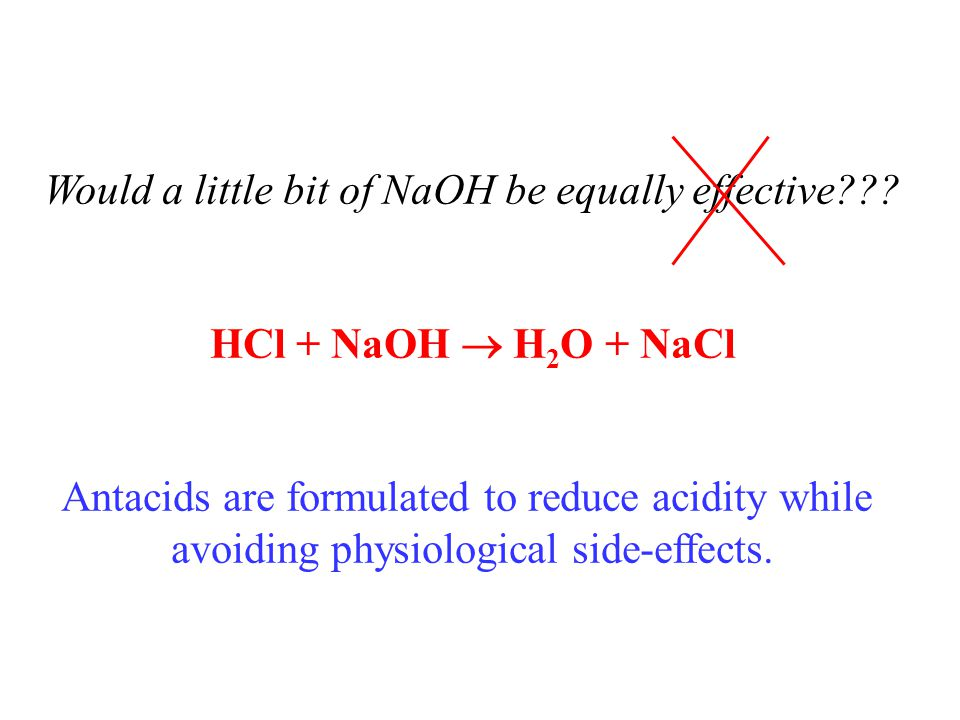 Would a little bit of NaOH be equally effective