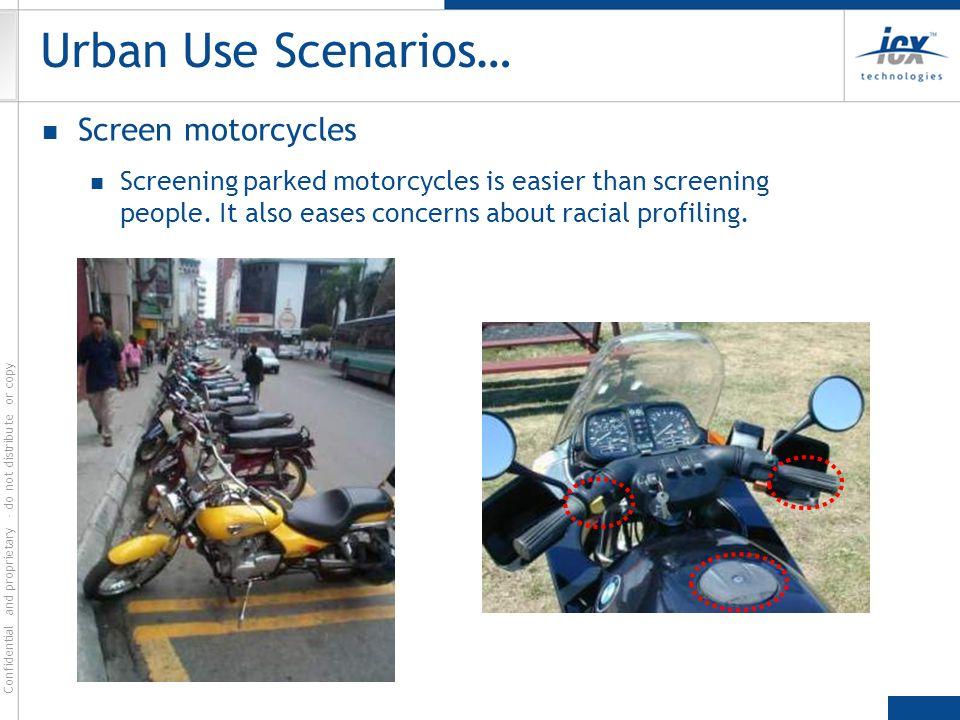 Urban Use Scenarios… Screen motorcycles