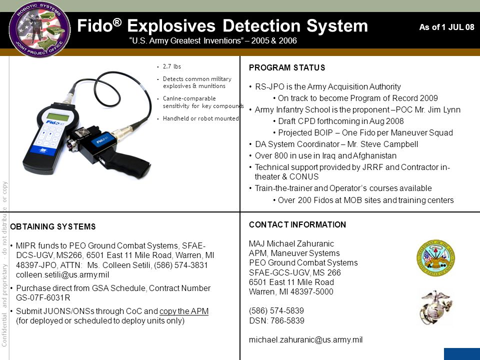 Fido® Explosives Detection System
