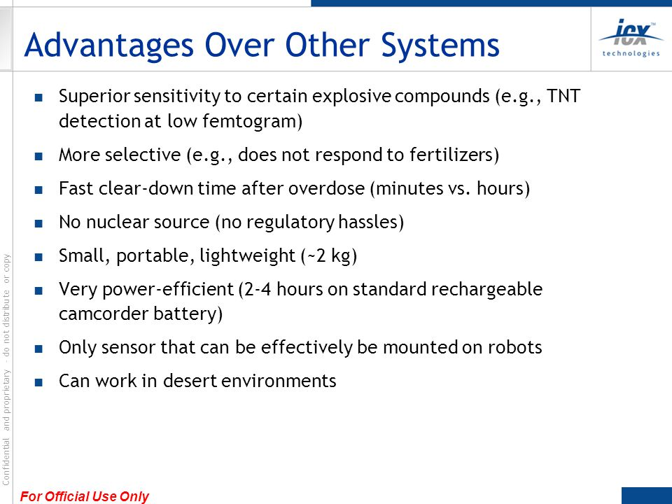 Advantages Over Other Systems