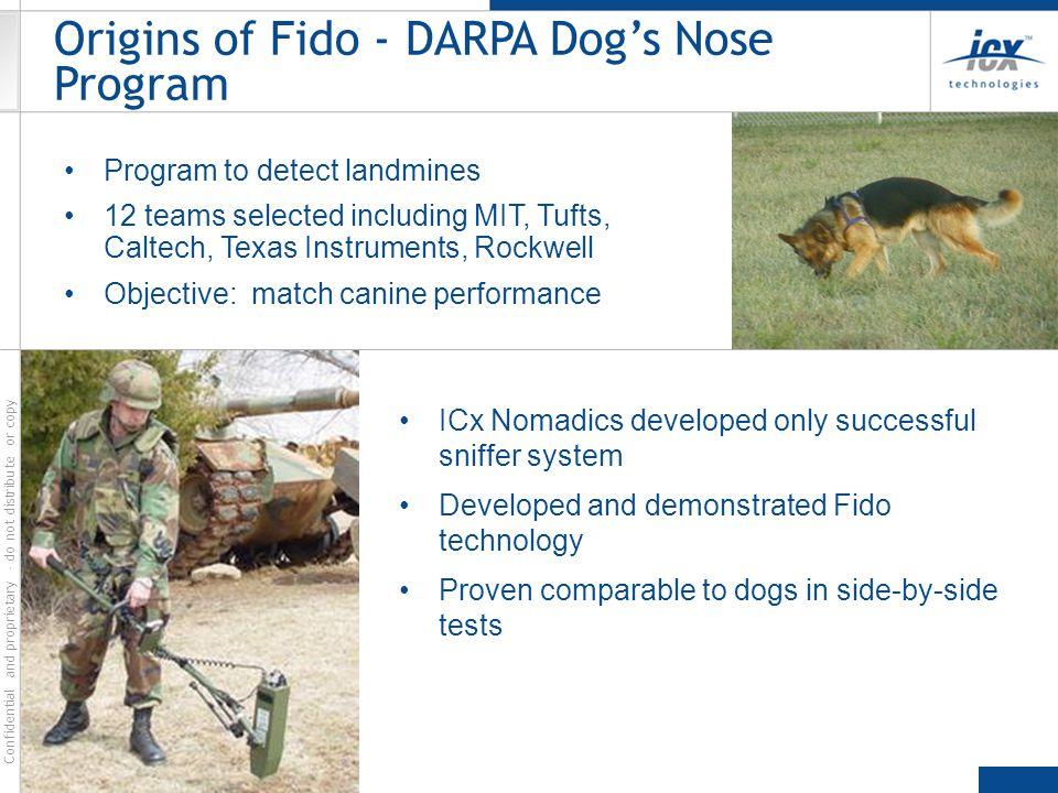 Origins of Fido - DARPA Dog's Nose Program
