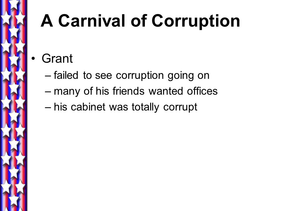 A Carnival of Corruption