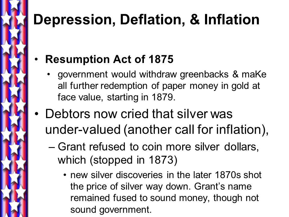 Depression, Deflation, & Inflation
