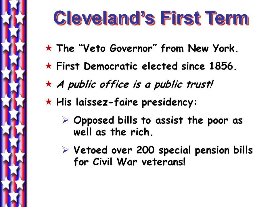 Cleveland's First Term