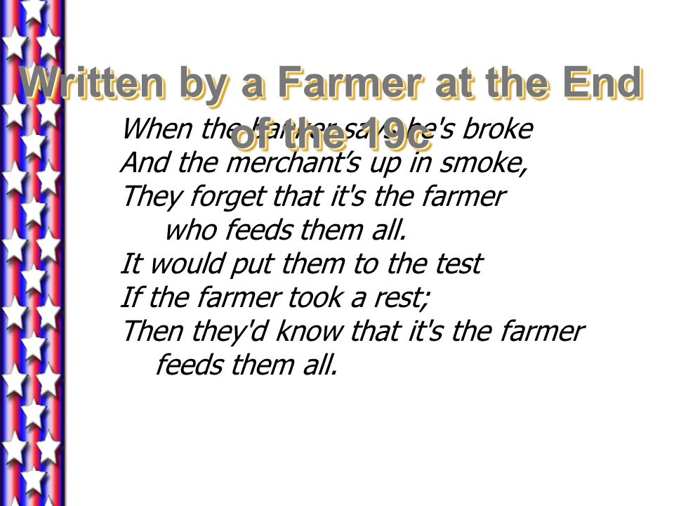 Written by a Farmer at the End of the 19c