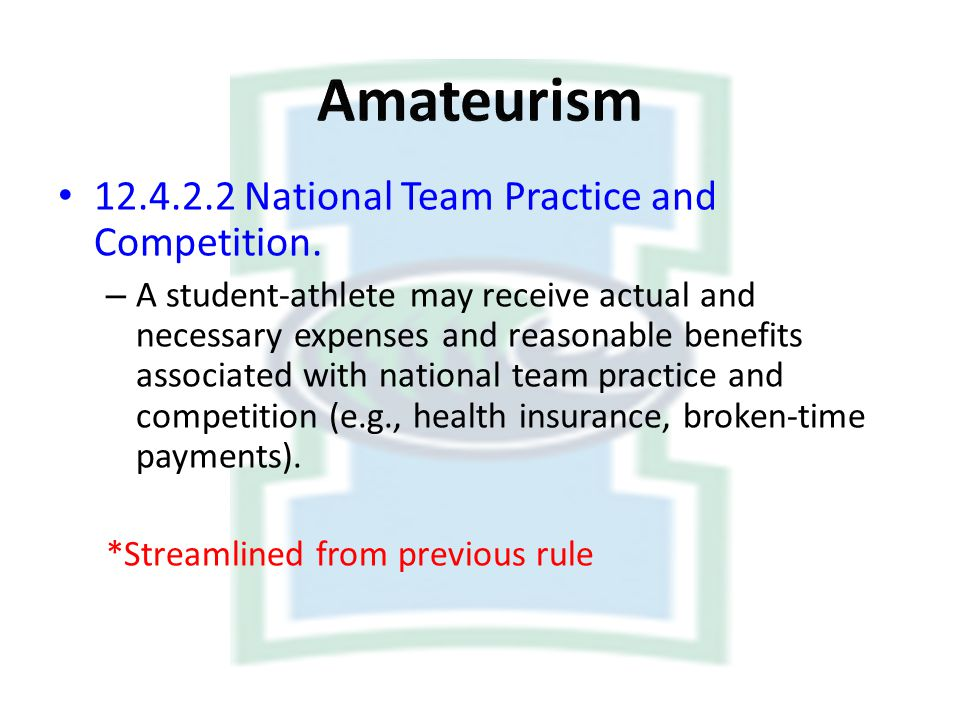 Amateurism National Team Practice and Competition.