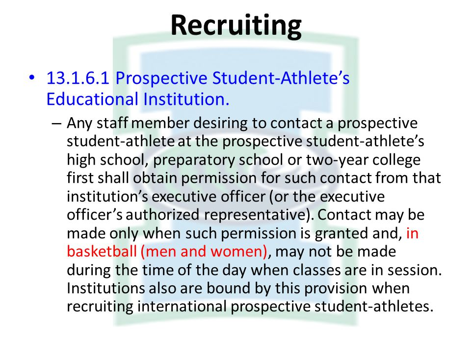 Recruiting Prospective Student-Athlete's Educational Institution.