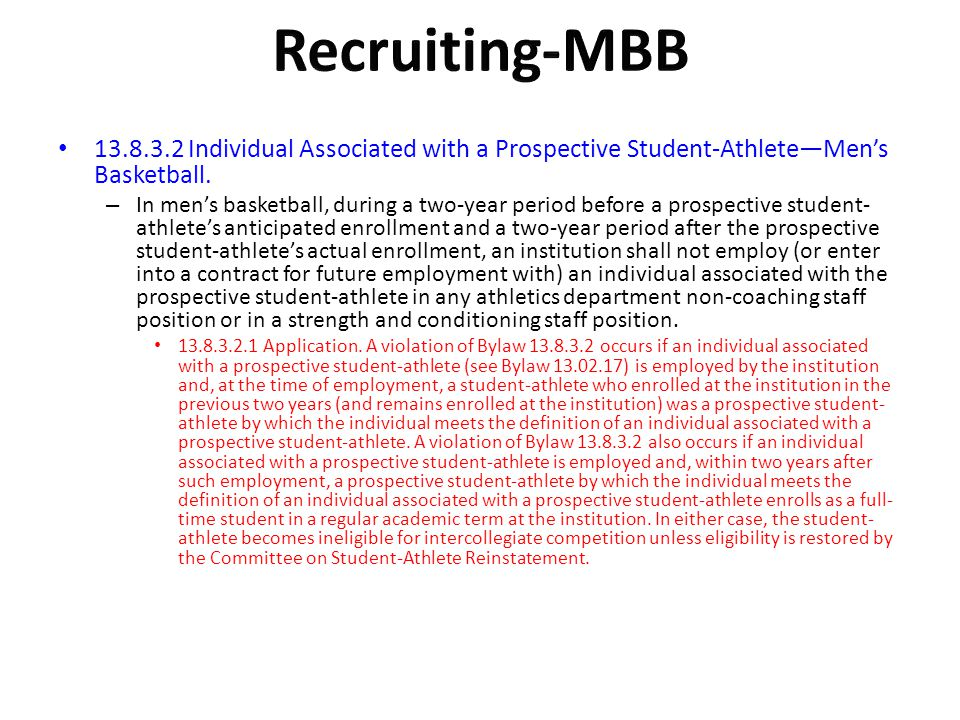 Recruiting-MBB Individual Associated with a Prospective Student-Athlete—Men's Basketball.