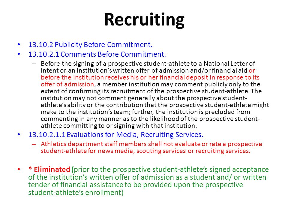 Recruiting Publicity Before Commitment.