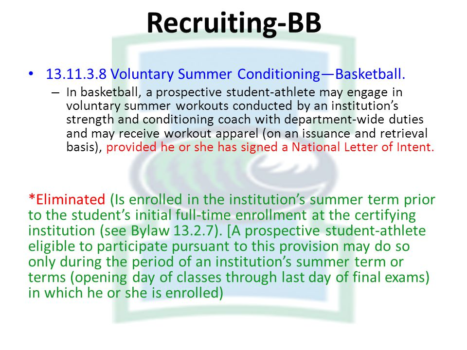 Recruiting-BB Voluntary Summer Conditioning—Basketball.