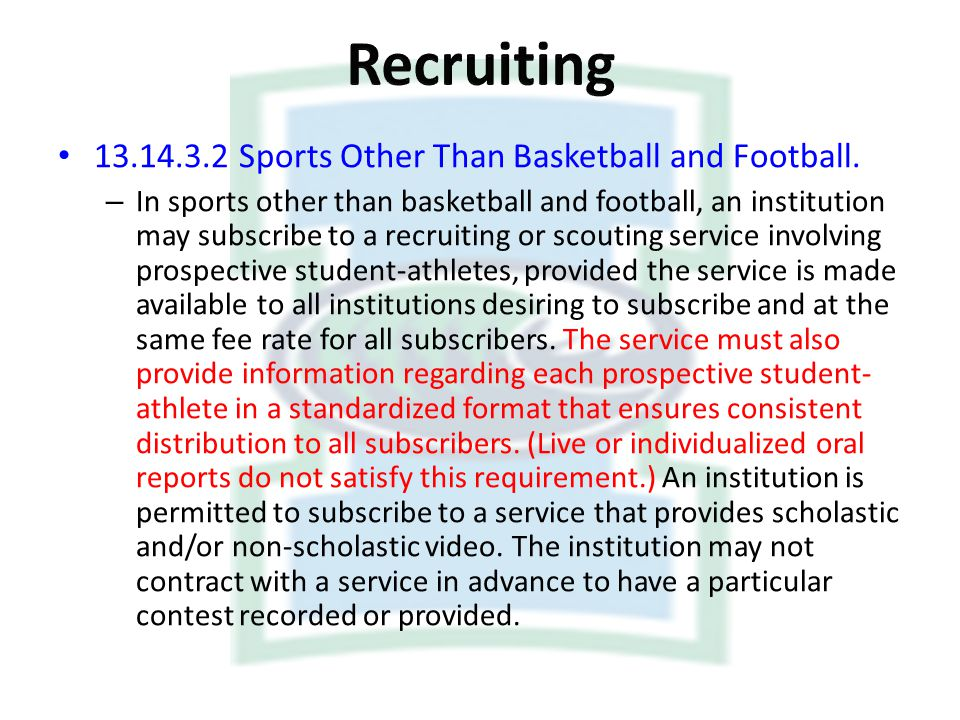 Recruiting Sports Other Than Basketball and Football.