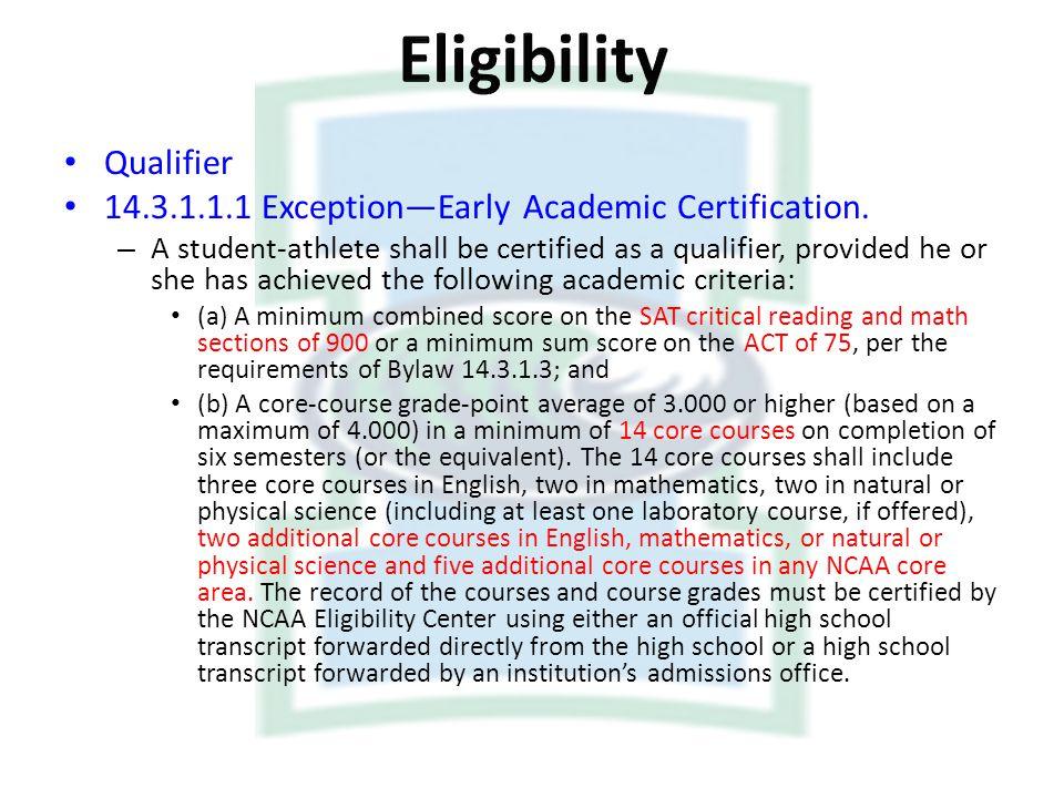 Eligibility Qualifier