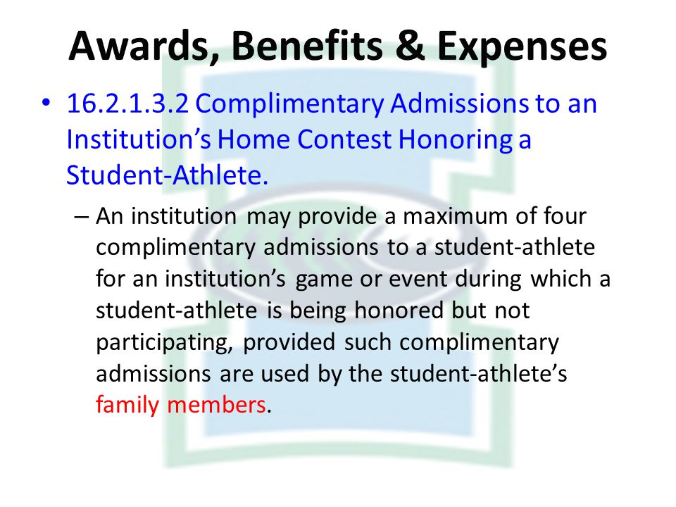 Awards, Benefits & Expenses