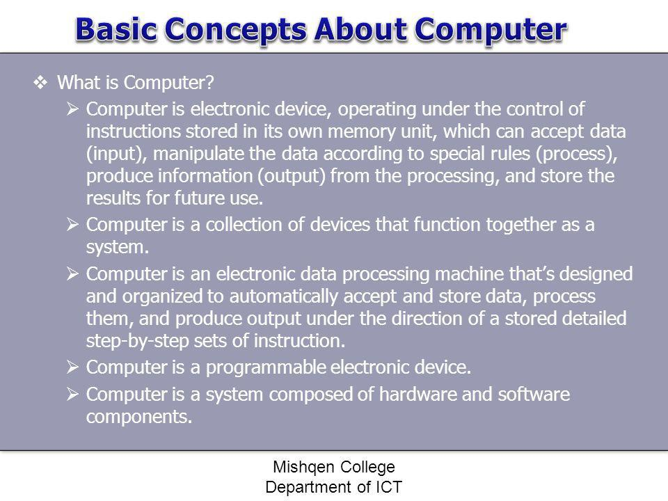 Basic Concepts About Computer