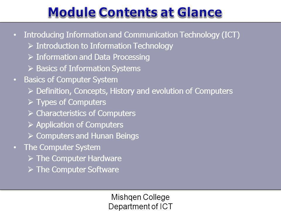 Module Contents at Glance