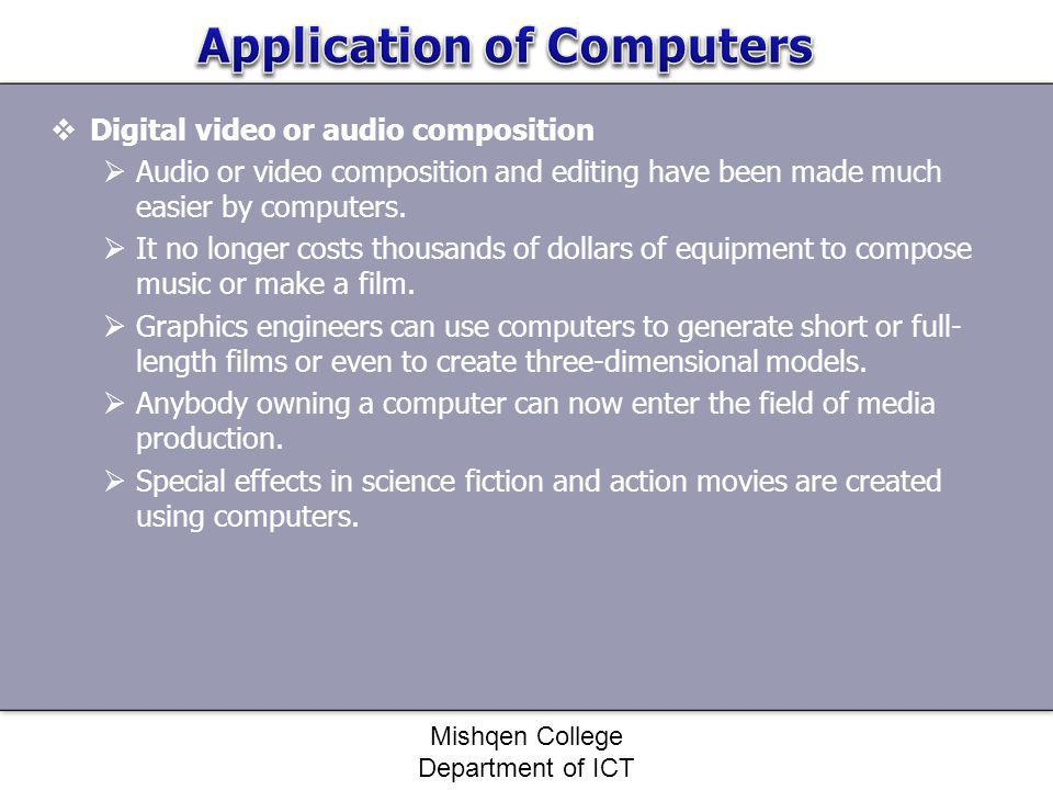 Application of Computers