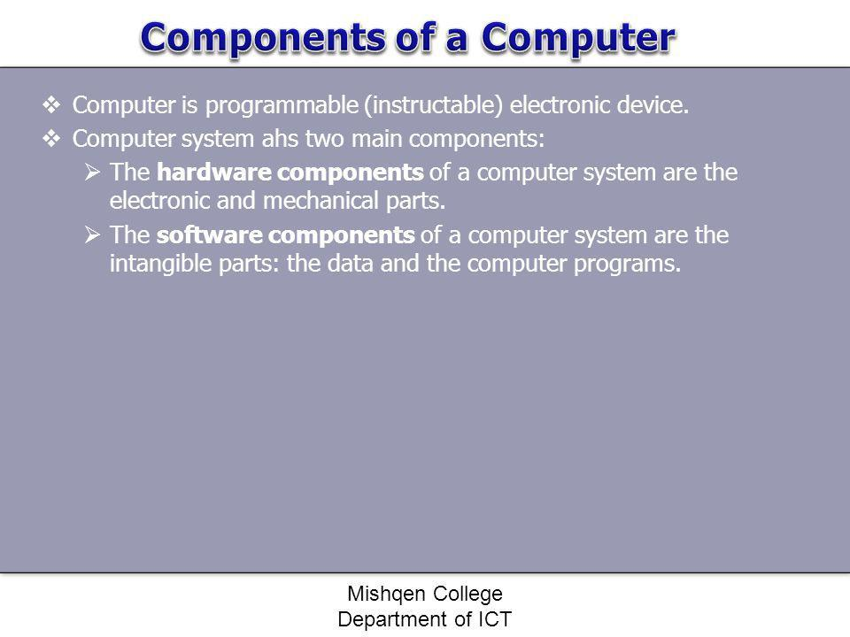Components of a Computer