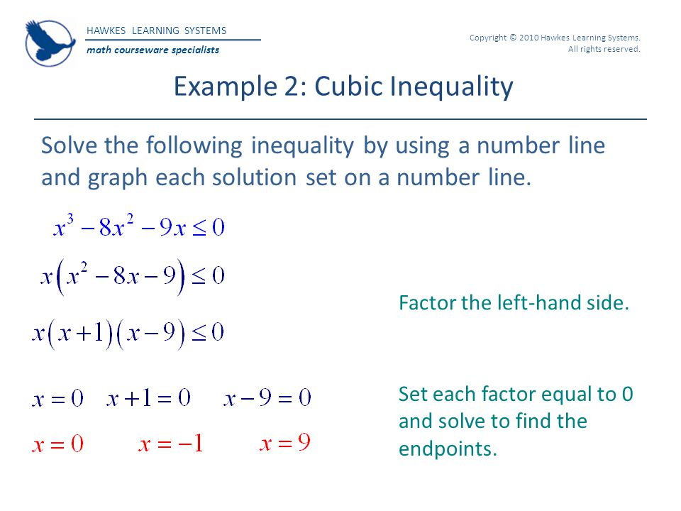 Example 2: Cubic Inequality