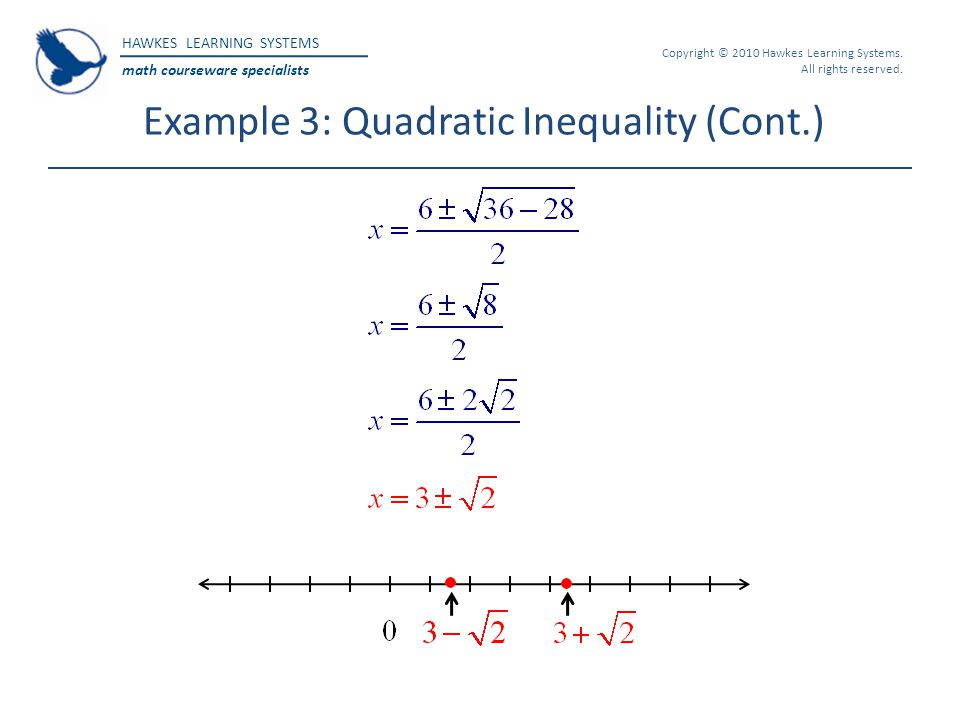 Example 3: Quadratic Inequality (Cont.)
