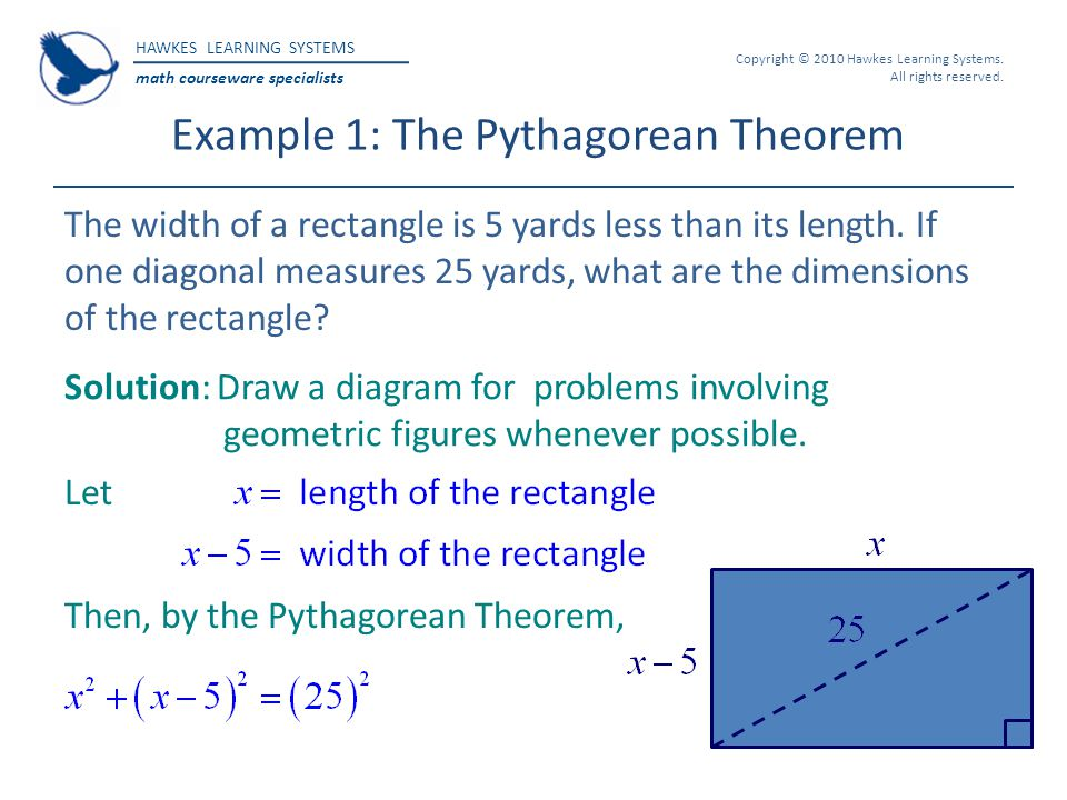 Example 1: The Pythagorean Theorem