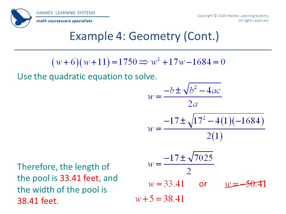 Example 4: Geometry (Cont.)