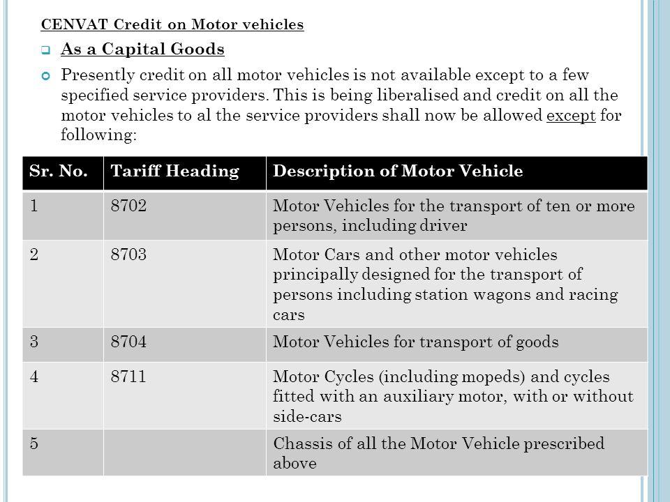 Description of Motor Vehicle 1 8702