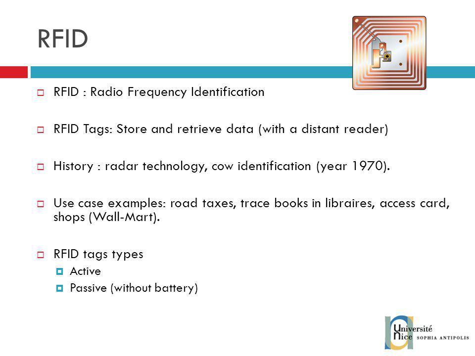 RFID RFID : Radio Frequency Identification