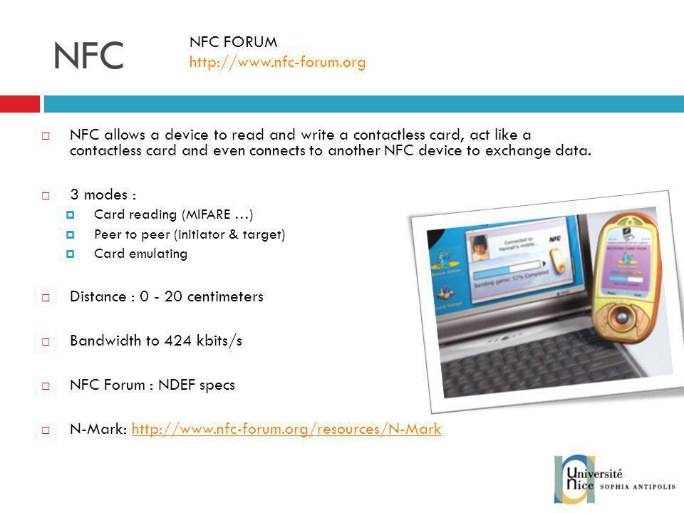 NFC NFC FORUM http://www.nfc-forum.org