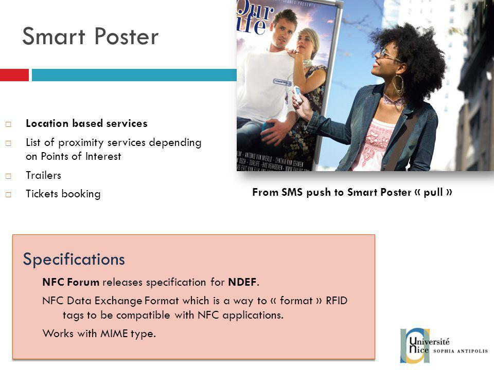 Smart Poster Specifications Location based services