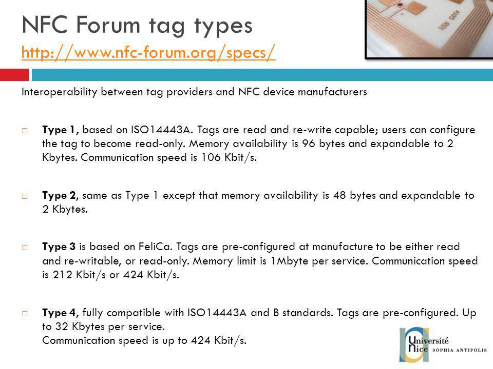NFC Forum tag types