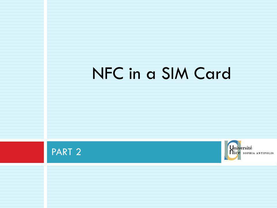 NFC in a SIM Card PART 2