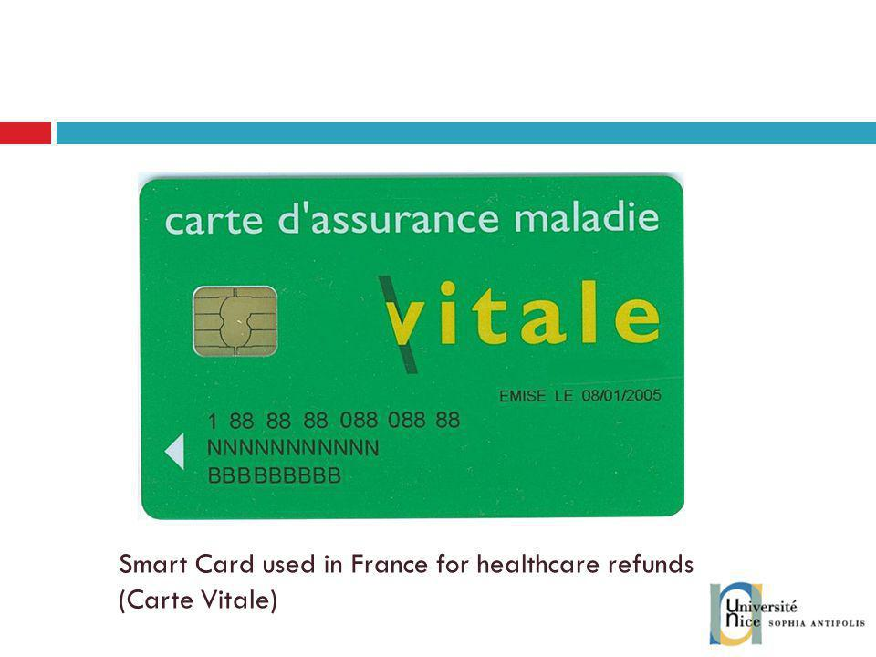 Smart Card used in France for healthcare refunds (Carte Vitale)