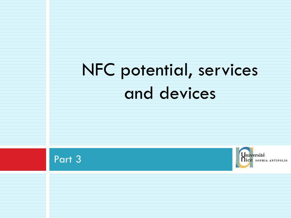 NFC potential, services