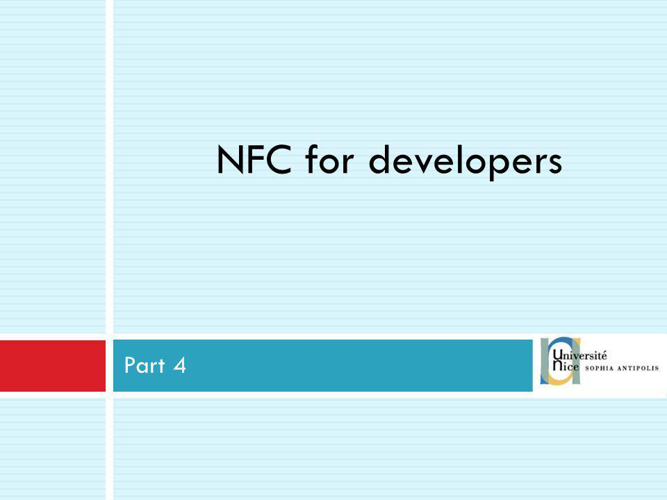 NFC for developers Part 4