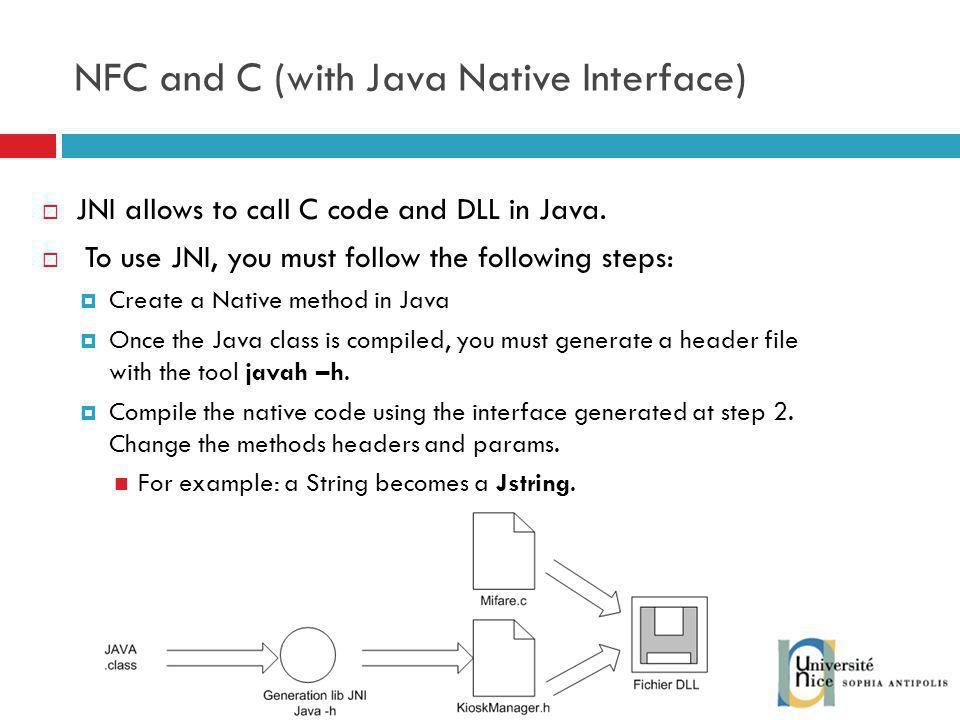 NFC and C (with Java Native Interface)