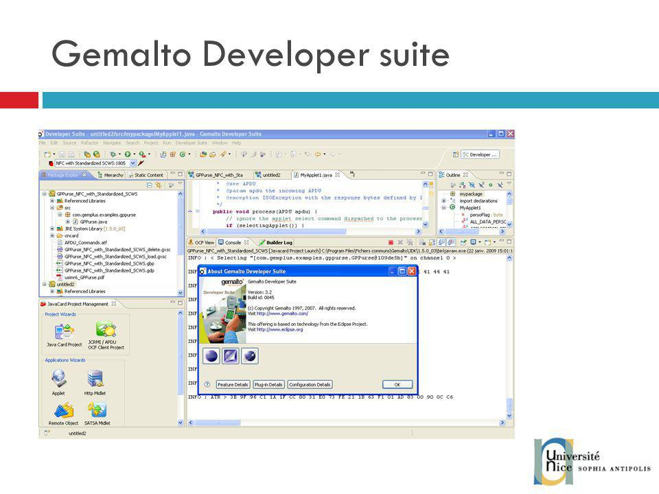 Gemalto Developer suite
