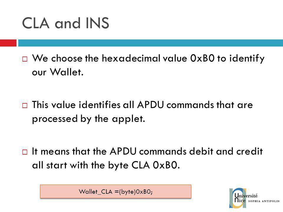Wallet_CLA =(byte)0xB0;