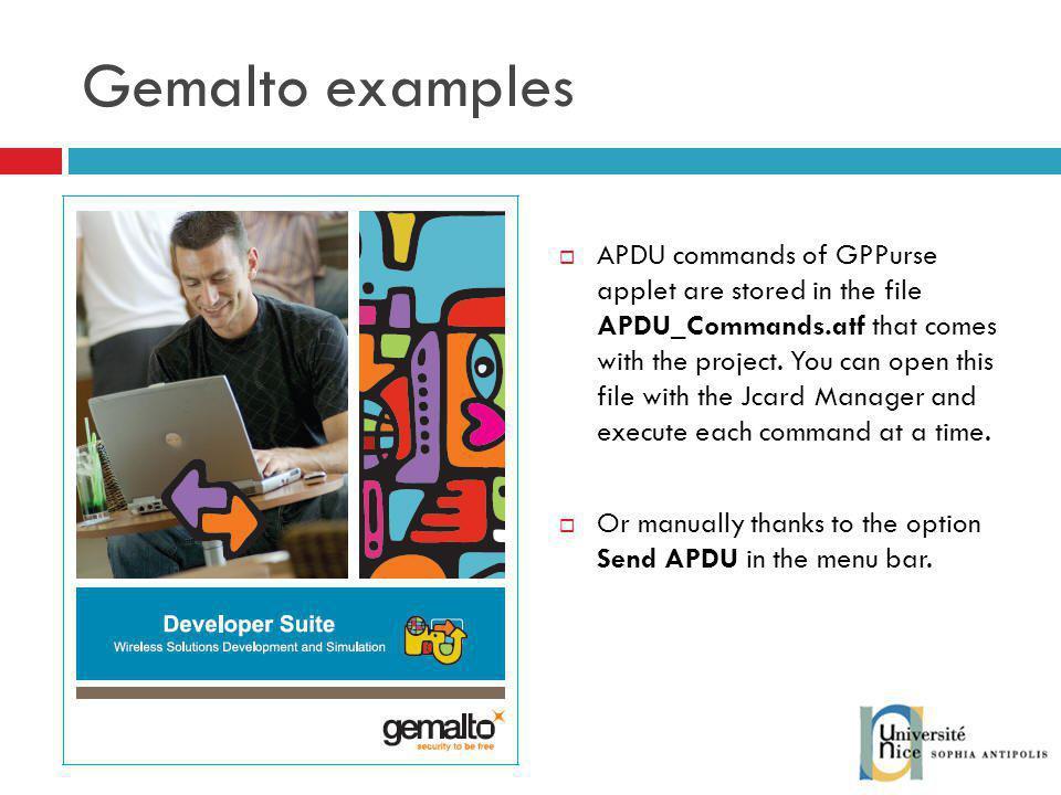Gemalto examples