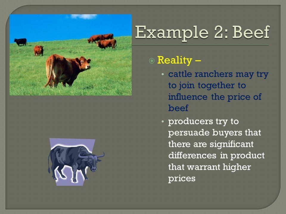 Example 2: Beef Reality –