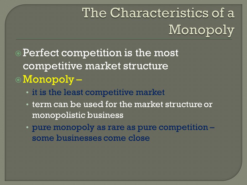 business monopoly and market entry For example, while hershey's chocolate company may not be a  monopolies  are created through barriers to entry into their market and.