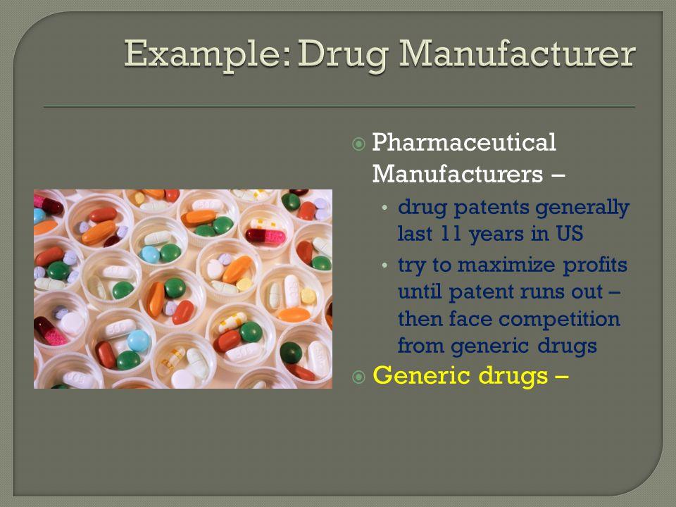 Example: Drug Manufacturer