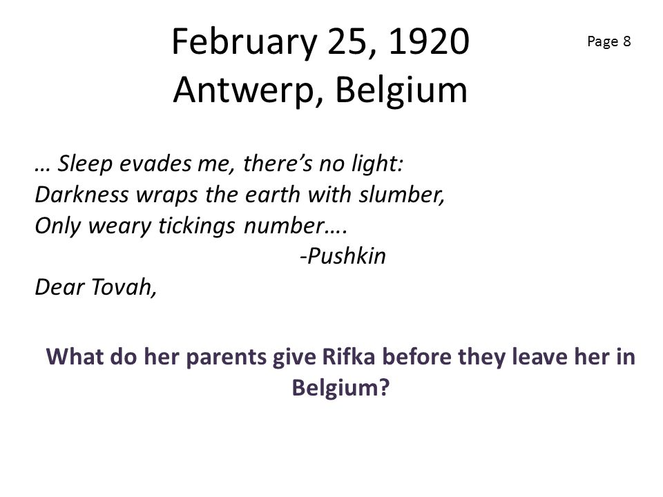 February 25, 1920 Antwerp, Belgium