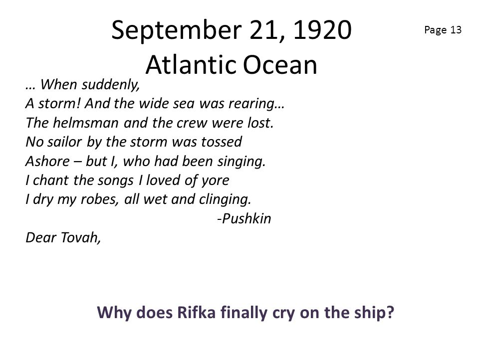 September 21, 1920 Atlantic Ocean