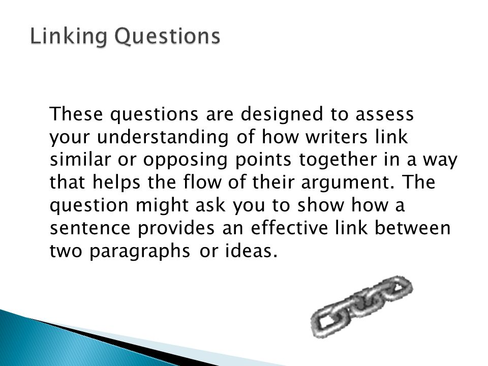 Linking Questions
