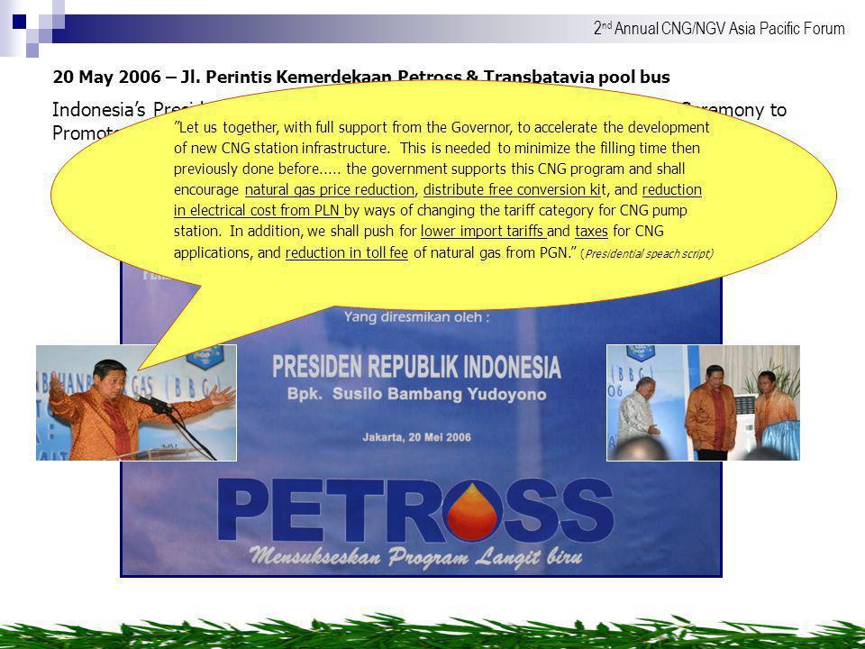 20 MAY 2006 20 May 2006 – Jl. Perintis Kemerdekaan Petross & Transbatavia pool bus.