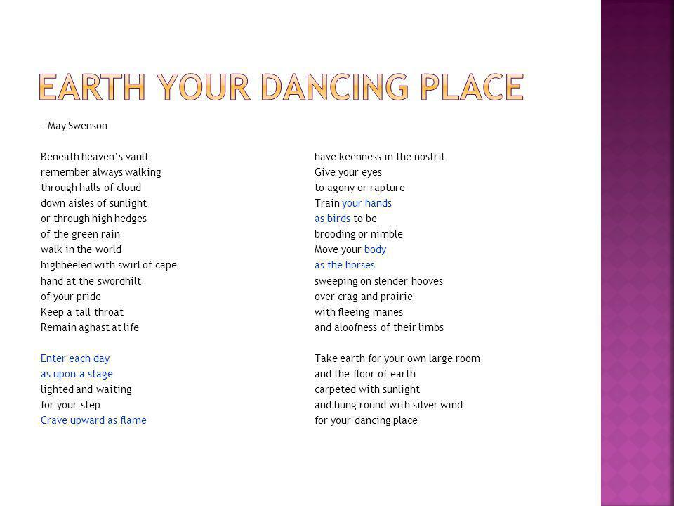 Earth your dancing place