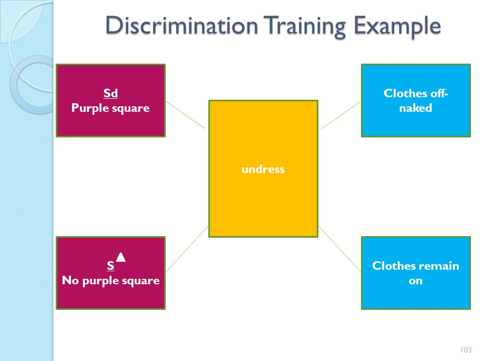 Discrimination Training Example