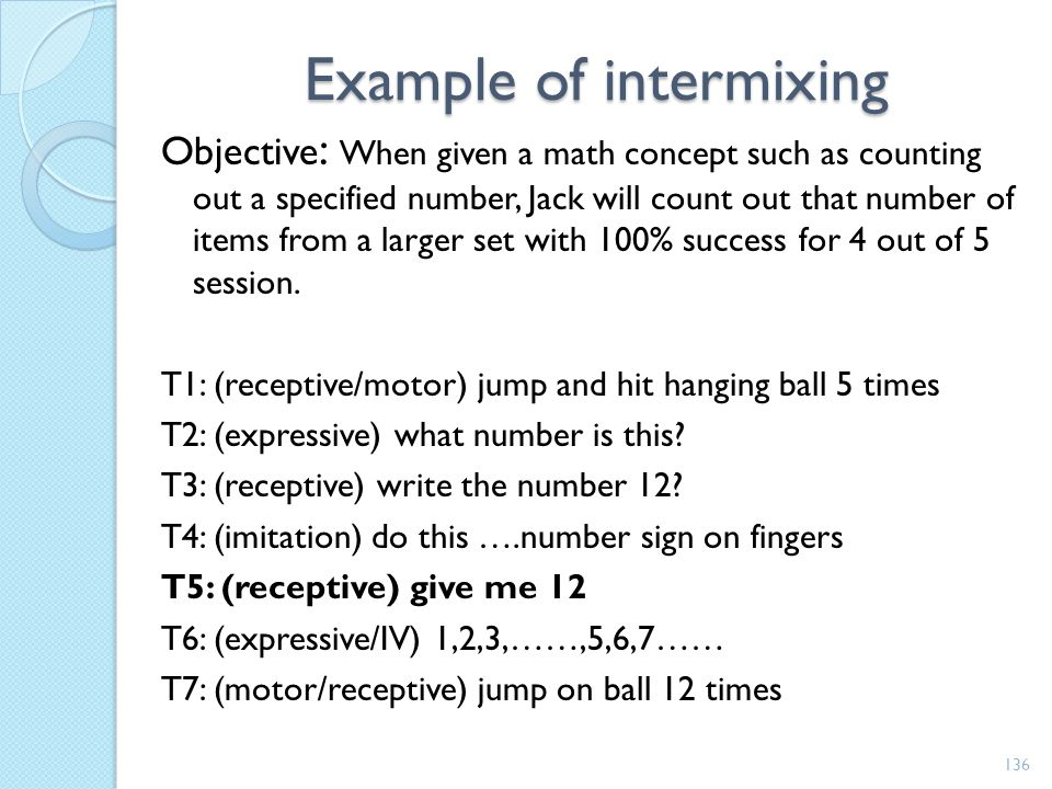 Example of intermixing
