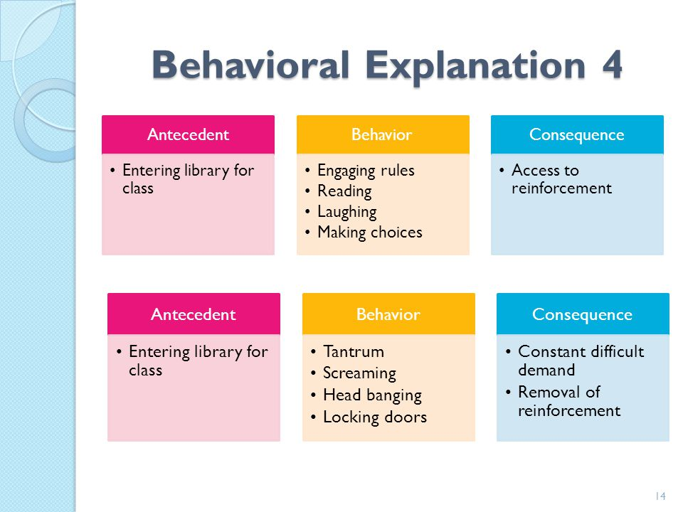 Behavioral Explanation 4