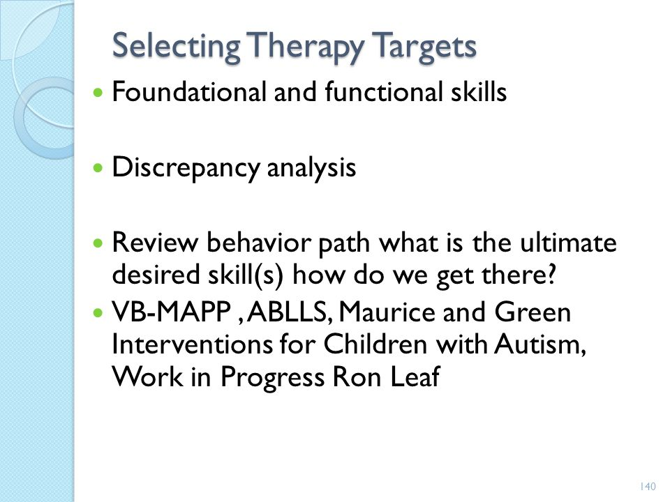 Selecting Therapy Targets